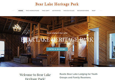 Bear Lake Heritage Park Group Lodging in Bear Lake