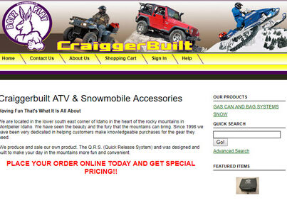 Craiggerbuilt ATV & Snowmobile Accessories in Montpelier Idaho