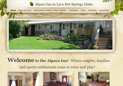 Alpaca Inn in Lava Hot Springs Idaho