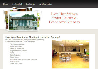 Lava Hot Springs Senior Center and Community Building