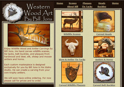 Western Wood Art by Bill Jons